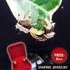 INSPIRE JEWELRY ต่างหูรูปมงกุฏ Rose gold ต่างหูเกรดพรีเมี่ยม ฝังขอบมงกุฏด้วยเพชรสวิส งานจิวเวลลี่ ขนาด 1x1cm พร้อมกล่องกำมะหยี่