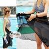ผ้าคลุมชายหาด Hot Basic : สีดำ AB0004