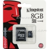 "Micro SD Card 8GB ""Kingston"" (SDC10, Class 10)"