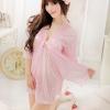 ชุดคลุมนอนสีชมพูมีชุดสายเดี่ยวข่สงใน และชุดคลุมนอน 2 ชิ้นค่ะ เนื้อผ้าซาตินนิ่มมาก