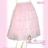 #หมด# เชียร์ลายผ้าสวยแบบนุ่น SB132 Chiffon Skirt กระโปรงผ้าชีฟองสีพื้นหรูน่ารักมาก เฉดชมพูหวาน