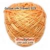 ไหมคอตตอลซิล (ไหมยาวี) รหัสสี 019 สีส้มนวล (พาสเทล)