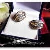 ต่างหูเพชร diamond cloning/gold plated / white gold plated