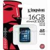 """SD Card 16GB """"Kingston"""" (SD10G2, Class 10)"""
