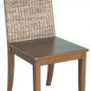 เก้าอี้ไม้แต่งผักตบชวา IFWH-012