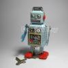 หุ่นยนต์สังกะสีไขลาน Mini Radiocon Robot