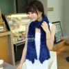 ผ้าพันคอแฟชั่น Magic Scarf - ผ้าพันคอแปลงร่าง เนื้อผ้าไลคราสี Blue
