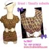 แบรนด์Classify Collection TB637:Classic Design :เสื้อผ้าเรยอนลายคลาสสิก ลายหรู แบรนด์ดังคลาสสิฟายด์แบรนด์ส่งออก แบบเก๋ แขนตุ๊กตา