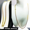 Inspire Jewelry สร้อยคอลายบล็อค 2 บาท ขนาด 24 นิ้ว สวมคอได้ 3 กษัติรย์ งาน design หุ้มทองแท้ 24K ทองขาว และนาก ปราณีต งดงาม สวยหรู พร้อมถุงกำมะหยี่