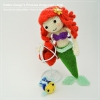 แพทเทิร์นตุ๊กตาถักเงือกน้อยแอเรียล (Amigurumi Princess Ariel Pattern)