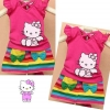 ชุดแฟชั่นเด็กสไตล์เกาหลี เสื้อ+กระโปรง kitty น่ารัก มีไซส์ 90 100 110 120 130