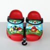 รองเท้า crocs 3D ลาย ANGRY BIRD สีแดง