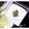 จี้เพชรเม็ดเดียวรูปหัวใจ gold plated 1microns / white gold plated