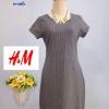 แบรนด์ H&M Printed Dress ผ้าดีมากๆ ค่ะ size XL