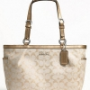 COACH Gallery Metallic Signature Tote # 17724