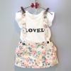 เสื้อ+เอี้ยมกระโปรง LOVELY มีไซส์ 7(100) 9(110) 11(120) 13(130) 15(140)