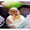 แหวนนพเก้าเพชรข้าง/gold plated 5microns/white gold plated