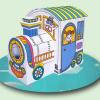 บ้านกระดาษศิลปินน้อย Little Play House - Fancy Train