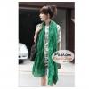 ผ้าพันคอแฟชั่นเกาหลีสีพื้น Hot Basic : สีเขียวอ่อน CK0288