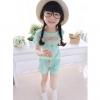 ชุดแฟชั่นสาวน้อย สไตล์ Pastel color(ฟ้าอ่อน) มีไซส์ 100 110 120 130 140