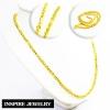 Inspire Jewelry สร้อยคอทองต่อลาย น้ำหนัก 3 บาท งานทองไมครอน ชุบเศษทองคำแท้ ยาว 24 นิ้ว หนัก 44 กรัม