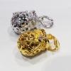 Inspire Jewelry ถุงทองนพเก้าแพ็คคู่ 2 ชิ้น ฝังเพชรสวิส มีทอง และทองขาว