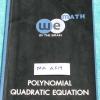 ►วีเบรน◄ MA A519 คณิตศาสตร์ ม.2 พหุนาม สมการกำลังสอง Polynomial Quadratic Equation สรุปเนื้อหาและสูตรสำคัญ มีจดบางหน้า จดละเอียด ในหนังสือมีโจทย์ Assignment ,ข้อสอบสมาคมคณิตศาสตร์ และแนวข้อสอบ มีเฉลยละเอียดของอาจารย์ครบทุกข้อ แสดงวิธีทำอย่างละเอียด มีแทรก