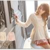 ♡♡Pre Order♡♡ มินิเดรสเจ้าหญิง (เดรสสั้น) สวยหรูน่ารักๆ เนื้อผ้าขนแกะหรูหรา แขนยาว แต่งผ้าตาข่ายทำเป็นวงๆ รอบคอเสื้อตรงกลางแต่งมุกรอบคอปก จั็มตรงช่วงเอว ระบายผ้าลูกไม้ซีทรูตรงชายชุดเดรส ดูไฮโซมากๆ ค่ะ
