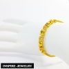 Inspire Jewelry แบรนด์ สร้อยข้อมือทอง น้ำหนัก 11กรัม งานทองไมครอน ชุบเศษทองคำแท้ ยาว 16.5x0.6cm.