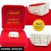 Inspire Jewelry ,แหวนที่ระลึกหลวงพ่อรวยปาสาทิโกเกจิดังวัดตะโก รุ่นเลื่อนสมณศักดิ์ ละสังขารแล้วสิริอายุรวม 95 ปีจ.อยุธยามีจำนวนจำกัดบันดาลความสำเร็จตัวเรือน หุ้มทองแท้ 24K สวยหรู พร้อมกล่องกำมะหยี่