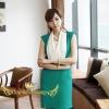 ♥♥พร้อมส่งค่ะ♥♥ ชุดเดรสแฟชั่น เนื้อผ้าคอตตอน เล่นดีไซน์เก๋ๆ ตรงช่วงคอปกเป็นสีขาว ตัวชุดเป็นสีเขียว ช่วงเอวเป็นสม็อกใส่ง่าย สะดวกสบาย กระโปรงทรงตรงลงมา มีกระเป๋าด้านข้าง สวมใส่ทำงาน สวย เก๋มากมายเลยค่ะ