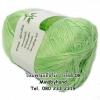 ไหมพรม Bamboo Cotton รหัสสี 08 สีเขียวอ่อน