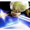 แหวนนพเก้าเพชรข้าง gold plated 5microns,white gold plated