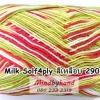 ไหมพรม Milk Soly4ply สีเหลือบ รหัสสี 2902 สีขาว-เหลือง-เขียว-แดง