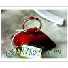 แหวนทับทิมแถว pink gold 2microns