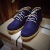 รองเท้าผู้ชาย | รองเท้าแฟชั่นชาย Blue Ankle Boot หนังนูบัคแท้ กันน้ำ