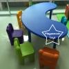2SPO-1011P โต๊ะรูปถั่ว พร้อมเก้าอี้คิดดี้ 6 ตัว