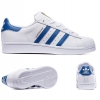 PRE ORDER Adidas Superstar Foundation White/Blue Trainers