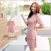 ♥♥พร้อมส่งค่ะ♥♥ ชุดเดรสน่ารักๆ สีชมพู ใส่ทำงานสวย เรียบร้อยค่ะ