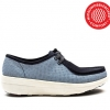 (พรีออเดอร์) FITFLOP™ - LOAFF™ LACE-UP MOC - BLUE WEAVE