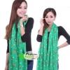 ผ้าพันคอแฟชั่น ลายลิง Paul Frank : สีเขียว CK0425