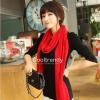 ผ้าพันคอไหมพรม ผ้า cashmere scarf size 180x30 cm - สี red