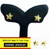 INSPIRE JEWELRY ต่างหูรูปดาว ขนาด 7x7mm.น่ารักมาก งานแบบร้านทอง หุ้มทองแท้ 24K 100%