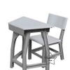 WHS-03 โต๊ะเก้าอี้สี่เหลี่ยมคางหมู ( 1 ชุดประกอบด้วย โต๊ะ 1 ตัว เก้าอี้ 1 ตัว)