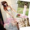[2ชิ้น ลงนิตยสารRayงานเกรดA] เทรนด์แรงกับ Maxi Dress :DB916 ใหม่! ชุดแซก/แม๊กซี่เดรส2ชิ้น ชิ้นในลายดอก ชิ้นนอกผ้าคอตตอนอัดยับ แต่งลูกไม้ ติดกระดุมหน้า