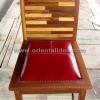 เก้าอี้ไม้พร้อมเบาะหนัง CH-195SP