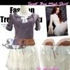กระโปรงตาข่าย ฟูฟ่องสุคชิค SB164 Classic Bow Mesh Skirt: ใหม่! กระโปรงตาข่ายฟู่ๆ ติดโบ สุดคลาสสิก สีขาวครีม