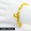 Inspire Jewelry สร้อยข้อมือทอง น้ำหนัก12กรัม งานทองไมครอน ชุบเศษทองคำแท้ ยาว 16x0.5cm., 17x0.5cm./ Inspire Jewelry brand Gold bracelet, weight 12 grams gold, gold plated gold, plated gold, 16x0.5cm., 17x0.5cm.