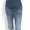 กางเกงยีนส์คนท้องขา3ส่วน Oldnavy Maternty Full Panel พับขา
