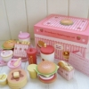 ชุดกล่องสตรอเบอร์รี่แฮมเบอร์เกอร์ แบบฝายก ของ Mother Garden (Mother Garden Strawberry Hamburger Set - Box Case)